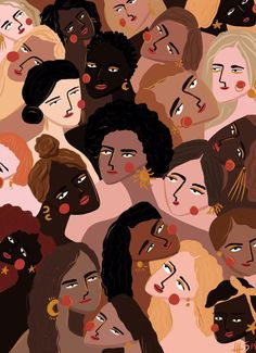 I am absolutely loving artist Maggie Stephenson's captivating illustrations. Not only are her color palettes so inspiring and on point, her exaggerated and somewhat abstract portrayal of the female figure is wonderfully tender… Art And Illustration, Illustration Inspiration, Watercolor Illustration, Graphic Illustrations, Kunst Inspo, Art Inspo, Art Pop, Art Africain, Feminist Art