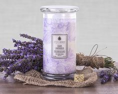 Calm Lavender Candle with ring inside! Relax and unwind to the soothing scent of lavender with hints of geranium and some sheer wood notes. Candle Wax, Soy Candles, Scented Candles, Yankee Candles, Argan Oil Soap, Classic Candles, Aroma Beads, Jewelry Candles, Malva