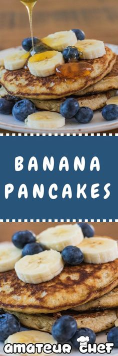 These banana pancakes taste incredibly and are very quick and easy to make. The addition of Cinnamon really works well with the banana | AmateurChef.co.uk via @amateurchefUK