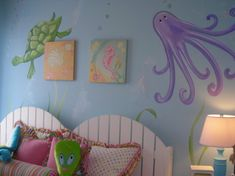 under the sea mural for kid's bedroom
