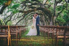 Megan Burwell and Blake Theviot - Vintage Blue & Yellow Charleston wedding at Boone Hall Plantation by Pure Luxe Bride, Hyer Images and Branch Design Studio