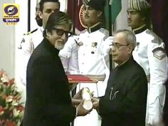 Amitabh Bachchan Receives His Padma Vibhushan; Family Attends Ceremony http://www.ndtv.com/video/player/news/amitabh-bachchan-receives-his-padma-vibhushan-family-attends-ceremony/362776