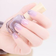 Top 100 Nail Designs for Perfectly Polished Nails All The Year Round . Simple Nail Art Designs, Easy Nail Art, Nail Designs, Pastel Nails, Purple Nails, Purple Ombre, Gray Ombre, Lilac Grey, Pastel Purple