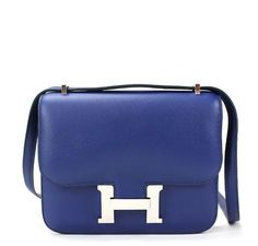 156e75d3dbe8 Exquisite Hermes Constance 18 in Blue Izmir - See more pics now: #baghunter  Izmir