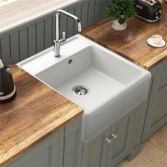 Cet évier à poser est idéal pour une cuisine tendance de style rétro. Équipé d'une cuve sans égouttoir, il trouve facilement sa place dans la cuisine.