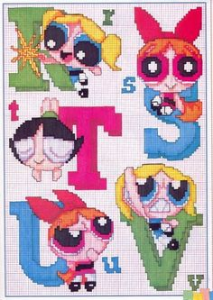 alfabeto le superchicche (The Powerpuff Girls) (5)