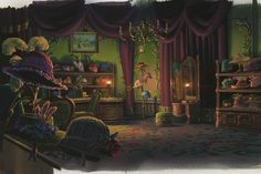 howl's moving castle, sophie's hat show. fancy scenery anime wallpaper.