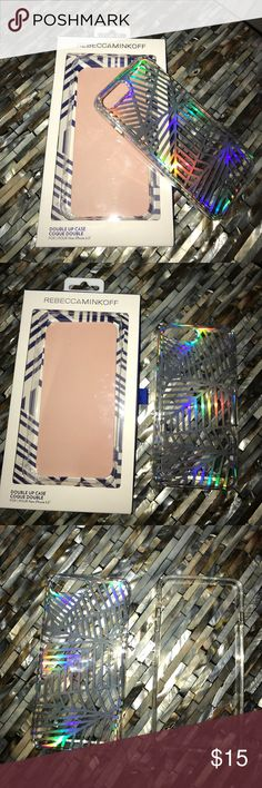 """Rebecca Minkoff Iridescent iPhone 7+ Case Unique and gorgeous Rebecca Minkoff iPhone 7+ case. (Fits iPhone 7 Plus – 5.5"""" model). There is a scratch on the back of the case that is shown in the 5th picture (my nail is pointing to it). Beautiful case with bumper and hard back case. Questions? Please ask! ✨ Rebecca Minkoff Accessories Phone Cases"""