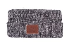 Charcoal and White Speckled Cuffed Beanie – Love Your Melon