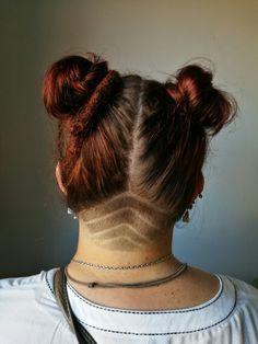 Red hair, buns, henna