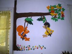 Mesetárház: Hintázó mólus és süni Paper Animal Crafts, Fall Paper Crafts, Paper Animals, Autumn Crafts, Nature Crafts, Fall Classroom Decorations, Class Decoration, School Decorations, Paper Decorations