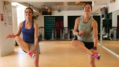 """TODAY's Natalie Morales and Jenna Wolfe (who is also a personal trainer) hit the gym to try Jenna's """"Pyramid workout,"""" which is a ten-minute exercise that works the entire body without needing equipment or weights."""