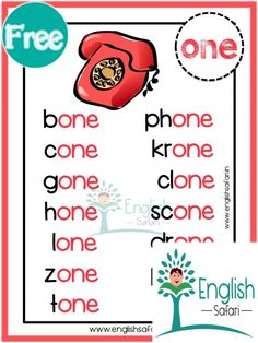 Learning English For Kids, English Lessons For Kids, Learn English Words, Phonics Chart, Phonics Blends, Phonics Reading, Teaching Phonics, Phonics Words, Spelling Words