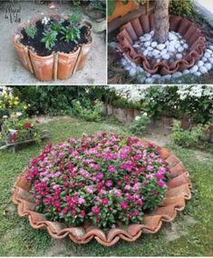 Garden Planters, Succulents Garden, Herb Garden, Garden Art, Flowers Garden, Chicken Garden, Urban Planters, Diy Garden, Garden Deco