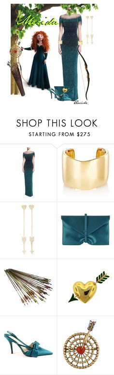 """""""Merida"""" by quicherz ❤ liked on Polyvore featuring Pamella Roland, Jennifer Fisher, Jennifer Meyer Jewelry, VBH, Van Cleef & Arpels, Christian Louboutin and Cartier"""