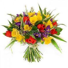 Букет из нарциссов и тюльпанов «Восточная принцесса»