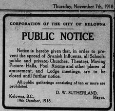 This is how Kelowna dealt with the Spanish flu pandemic in 1918 - Vancouver Is Awesome Vintage Reclame, Oude Advertenties, Vintage Citaten, Grappige Citaten, Levenscitaten, Citaten, Griep, Kronen, Leven