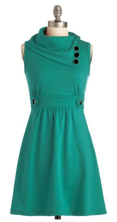 Coach tour dress in teal