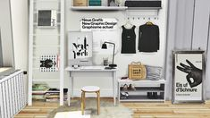 Sims 4 CC's - The Best: IKEA Office Set, Tjusig Hallway Set and DC Shoes D...