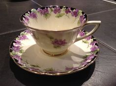 Recently found Royal Doulton violets tea cup.