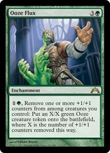 So remember all those +1/+1 counters you've racked up?? Well you can turn those into tokens.... ok, yes I really like token decks.... but this is insanely good in certain decks... works perfectly with another card I love that I'll mention: Master Biomancer. Remove a few counters to get a small dude, which will get bigger with Master Biomancer's ability..... and you can do this whenever!!! I could talk more about this card, but I won't get too in-depth with it.