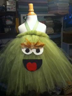Oscar the Grouch tutu dress