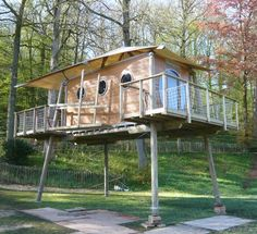 It floats as well! http://tinyhouseswoon.com/cabane-bois-zenzeyos