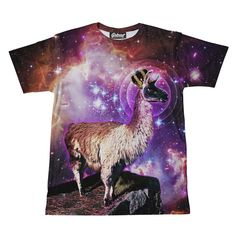 """belovedwear® presents the #kingllama Tee by Marcus Hadlock. This """"all over"""" print T-Shirt is made using a special sublimation technique to provide a vivid graph"""