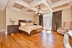 A master bedroom fit for a queen! Carrie Underwood and Mike Fisher have listed their 11-acre, five-bedroom, five-bathroom Canadian estate. For more information and photos, visit the website of real estate agent Paul Rushforth. Visit GACTV.com for the full gallery.