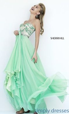 Dresses, Formal, Prom Dresses, Evening Wear: Sherri Hill Strapless Floor Length Dress