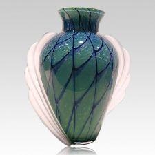 Heavenly Winged Glass Urn