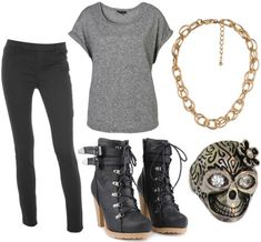 Movie Inspiration: Fashion Inspired by The Breakfast Club's Allison – The Basket Case. Not the skull, but the shoes and clothes - maybe not such high of a heel