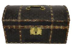 18th-C. Wood & Brass Document Box   One Kings Lane