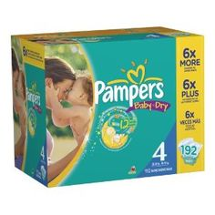 Pampers Baby Dry Diapers Economy Pack Plus Size 4 192 Count