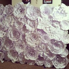How to build a flower wall/backdrop...