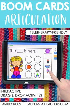 Digital Speech Therapy activities using Boom Cards for articulation. These interactive task cards are perfect for teletherapy and distance learning. Your preschool and elementary age kids will love these! Articulation Therapy, Articulation Activities, Speech Therapy Activities, Speech Language Pathology, Speech And Language, Play Therapy Techniques, Task Cards, Distance, Learning