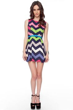Chevron dress (tobi.com)