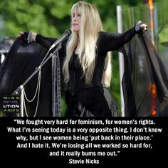 Stevie is not happy that women are being put 'back in their place' ~ and I don't blame her ☆♥❤♥☆