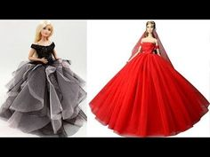 best=Awesome Glamorous party gown for Barbie DIY Fast and easy Barbie dress Jennifer Bridal Sewing Barbie Clothes, Barbie Sewing Patterns, Doll Clothes, Doll Patterns, Barbie Dress, Barbie Doll, Barbie Stuff, Doll Stuff, Evening Gown Pattern