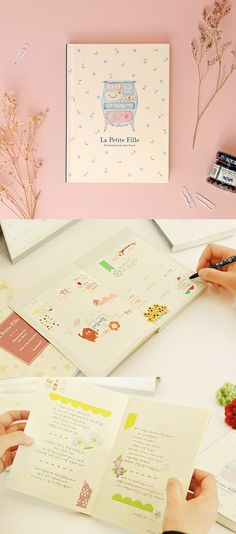 La Petite Fille Diary Planner is a gorgeous planner with a vintage look! Lovely patterns and illustrations are drawn throughout the planner, and the hardcover protects all the pages from harm.