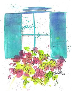Watercolor original paintings by Laura Trevey for your home decor.