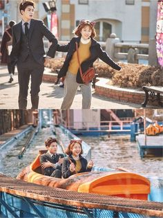 """Park Bo Young Drags Park Hyung Sik Around An Amusement Park In Adorable """"Strong Woman Do Bong Soon"""" Stills 