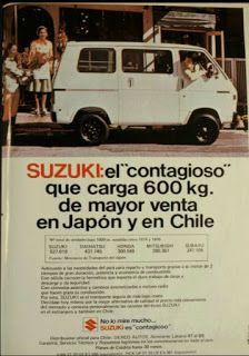 Publicidades de Automoviles en Chile: PUBLICIDAD SUZUKI CARRY 600 (1976) Suzuki Carry, Chile, Car Advertising, Vintage Advertisements, Motorhome, Nostalgia, Childhood, Van, Random