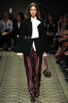 Burberry | Ready-to-Wear Spring 2017 | Look 1: photo credit Indigital; via Business of Fashion