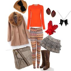 For winter get-away, created by #irenesimon on #polyvore. #fashion #style Stella McCartney Miss Selfridge