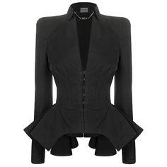 Super Edgy/Sexy blazer <3 it! #TeamAlexanderMcqueen