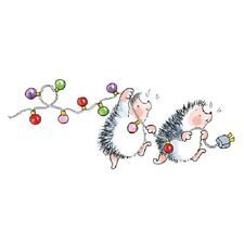 Christmas Hedgehogs Penny Black, Inc.- Christmas Hedgehogs Penny Black, Inc. Watercolor Christmas Cards, Christmas Drawing, Christmas Paintings, Watercolor Cards, Christmas Art, Winter Christmas, Black Christmas, Watercolour, Penny Black Stamps