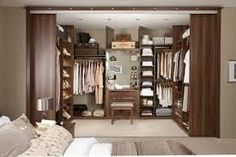 Znalezione obrazy dla zapytania sypialnia z garderobą