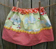 Happy Glamping skirt - size 4-6 yrs | Felt