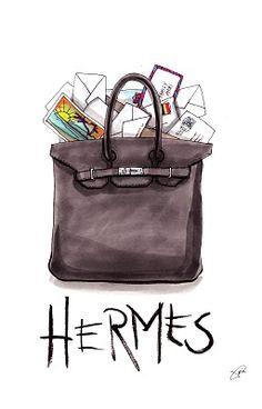 HERMES BAG #illustration by Achraf Amiri